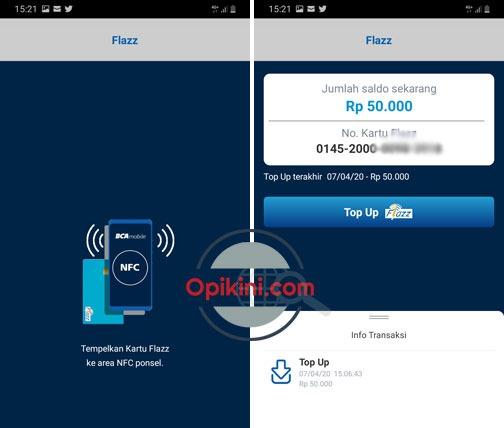 Cara Top Up Flazz BCA Lewat BCA Mobile