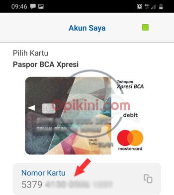 16 angka nomor kartu ATM BCA