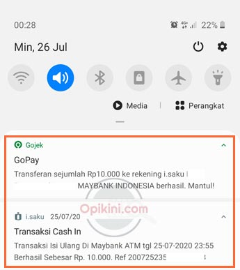 Top Up iSaku Lewat GoPay