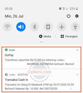 Top Up iSaku Lewat GoPay