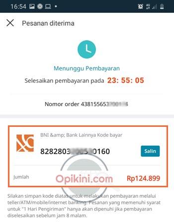 no rekening virtual BN