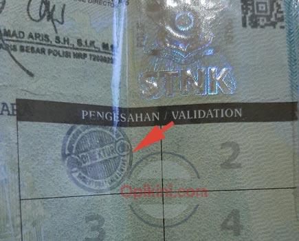Cara Pengesahan STNK Setelah Bayar Online Di Bogor