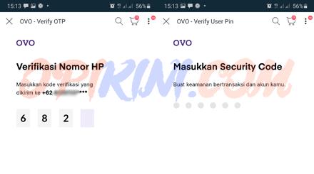 security code akun OVO