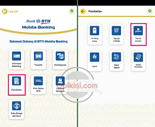 Cara Top Up GoPay Lewat BTN Mobile Terbaru