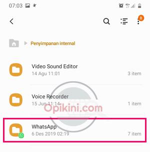 Buka folder WhatsApp