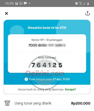 Tarik Saldo GoPay Di ATM BCA