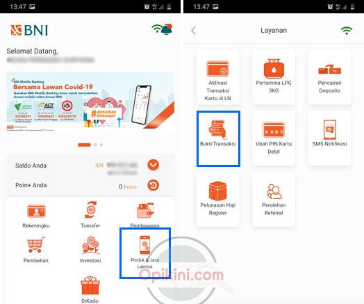 Cara Melihat Struk Pembelian Token Listrik Di BNI Mobile