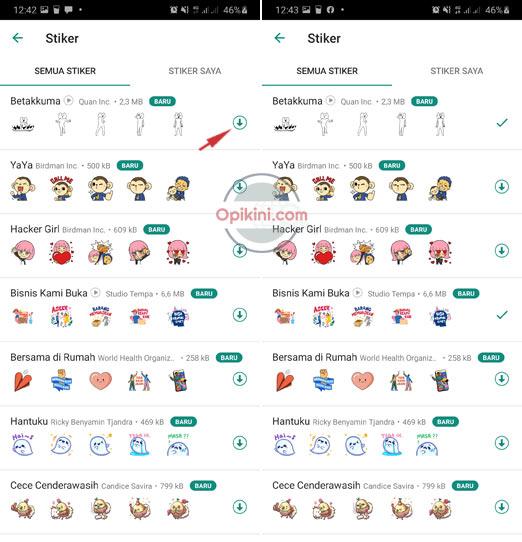 Cara Kirim Stiker Animasi Di WhatsApp Terbaru