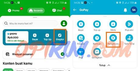 Hubungkan LinkAja Ke Aplikasi GoJek