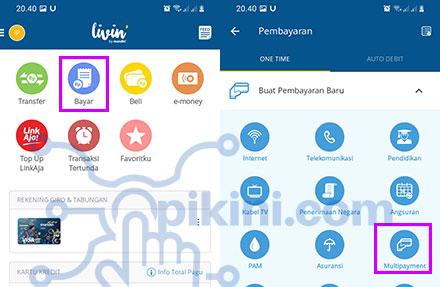 Cara Top Up ShopeePay Lewat Livin by Mandiri (Mandiri Online)
